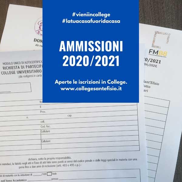 Online il bando di ammissione per l'A.A. 2020/2021
